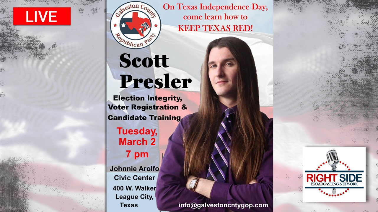 How to Keep Texas Red: Texas Independence Day w/Scott Presler LIVE 3/2/21